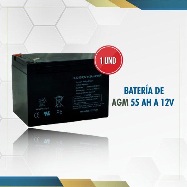 foto batería 55ah 12V