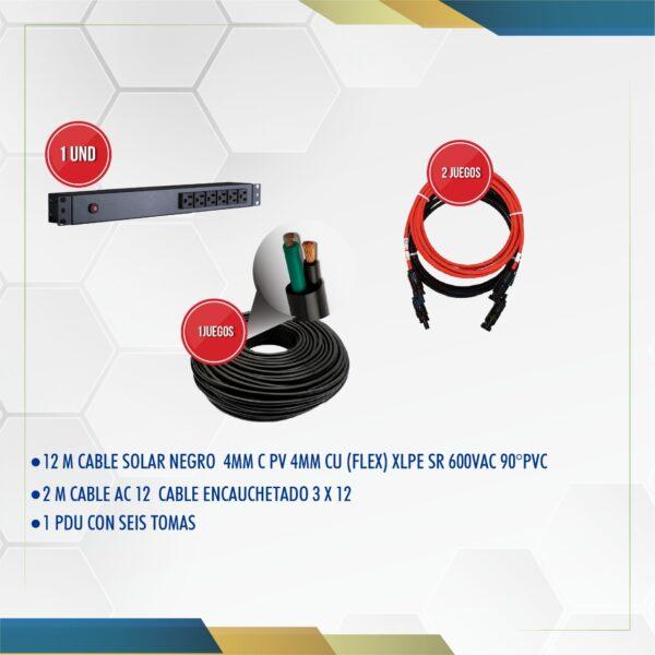 componentes kit solar 330w