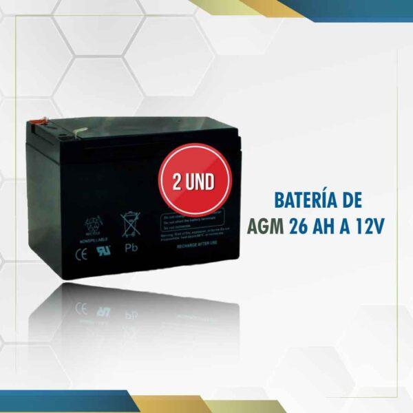 baterías 12v 26ah